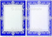2 x A5 Blue (1) Lace Frames for Card Making & Scrapbooking