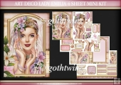 Art Deco Lady Emilia 4 Sheet Mini Kit Light Pink