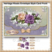 Heritage Roses Envelope Style Card Front