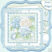 PASTEL HYDRANGEA 7.5 Decoupage & Insert Mini Kit