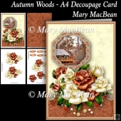 Autumn Woods - A4 Decoupage Card