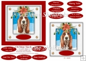 Christmas Puppy Dog (6) 6 x 6 Card Topper With Masses Of Greetin