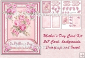 Mothers Day Card, Choice of Tags, Decoupage & Insert