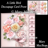 A Little Bird - Decoupage Card Front