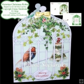 Victorian Christmas Robin - Shaped Cut & Fold Mini Card Kit