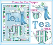 FREE Come for Tea Topper with Decoupage