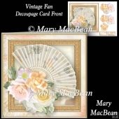 Vintage Fan - Decoupage Card Front