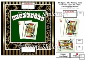 Blackjack - The Winning Hand - 8 x 8 Fun Decoupage Card Topper