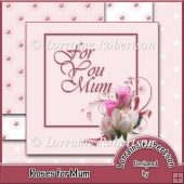 Roses for Mum Card Front Topper
