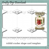 Tri Fold Cracker Shaped Card