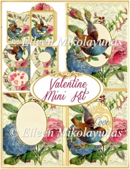 Victorian Valentine Mini Card Kit