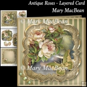 Antique Roses Layered Card