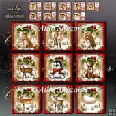 Christmas Cute Animals Bumper Card Front Kit