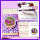Floral Inner Pop-up Card