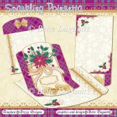 Sparkling Poinsetta Card Set