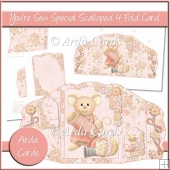 You're Sew Special Scalloped 4 Fold Card