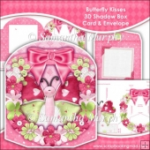 Butterfly Kisses 3D Shadow Box Card & Envelope