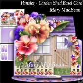 Pansies - Garden Shed Easel Card