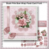 Blush Pink Bow Wrap Floral Card Front