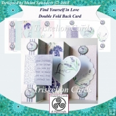 Find Yourself in Love Double Fold Back Card