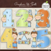 Birthday Years Boys 1 ClipArt Graphic Collection