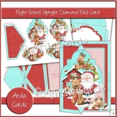 Flight School Upright Diamond Fold Card