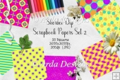 Sherbet Dip CU Scrapbook Papers Set 2