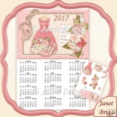 Good Shopping Day 2017 A4 UK Calendar & Decoupage Kit