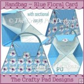 Handbag - Blue Floral Card