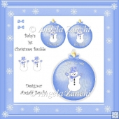 BABY BOY 1ST CHRISTMAS BAUBLE KEEPSAKE