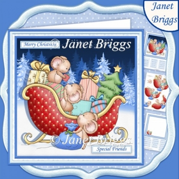 BELIEVE IN MAGIC Christmas 7.5 Decoupage & Insert Mini Kit