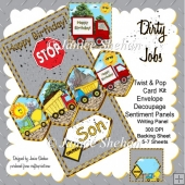 Dirty Jobs Birthday 3D Twist and Pop Card Kit