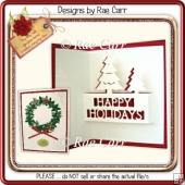 037 Happy Holiday Tree Pop-Up Insert *Multiple MACHINE Formats*