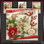 Vintage Christmas Card Kit Red 1028