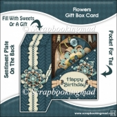 Flowers Gift Box Card
