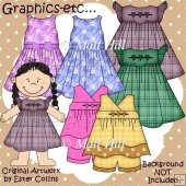 Dress-up Dolls Girls Clothes Pack 1