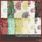 Traditional Christmas Backgroundpaper A4