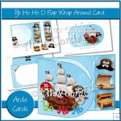 Yo Ho Ho D Flap Wrap Around Card