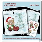 Huggy Bears 8 x 8 Card Kit - Party Time
