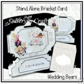 Stand Alone Bracket Card - Wedding Bears