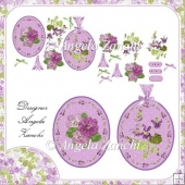 PRETTY OVAL VIOLET TOPPERS