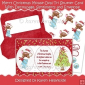 Merry Christmas Mouse Cameo Tri Shutter Card