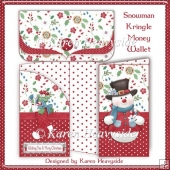 Snowman Kringle Money Wallet