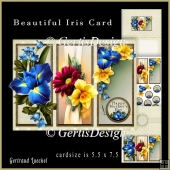 Beautiful Flower Cardkit Daffodil Iris