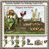 Country Garde Fun Birthday Card Front