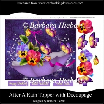 After A Rain Topper with Decoupage
