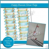 Happy Bunnies Straw Flags