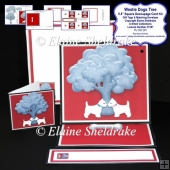 Westie Dogs Tree West Highland Terrier Decoupage Easel Card Kit