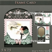 Wonderful Floral Frame Card Girl 6