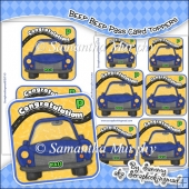 Beep Beep Pass Single Layer Card Toppers